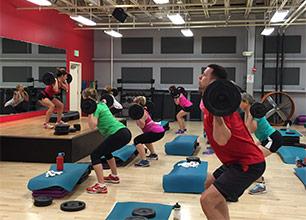 BodyPump Group Fitness Class