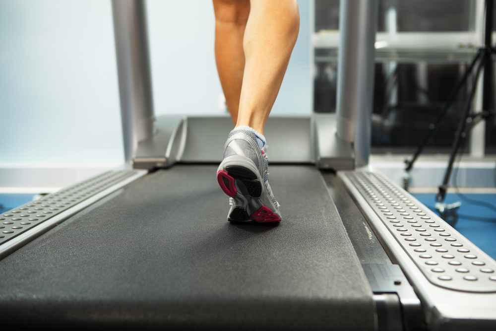 Image of female foot running on treadmill-1