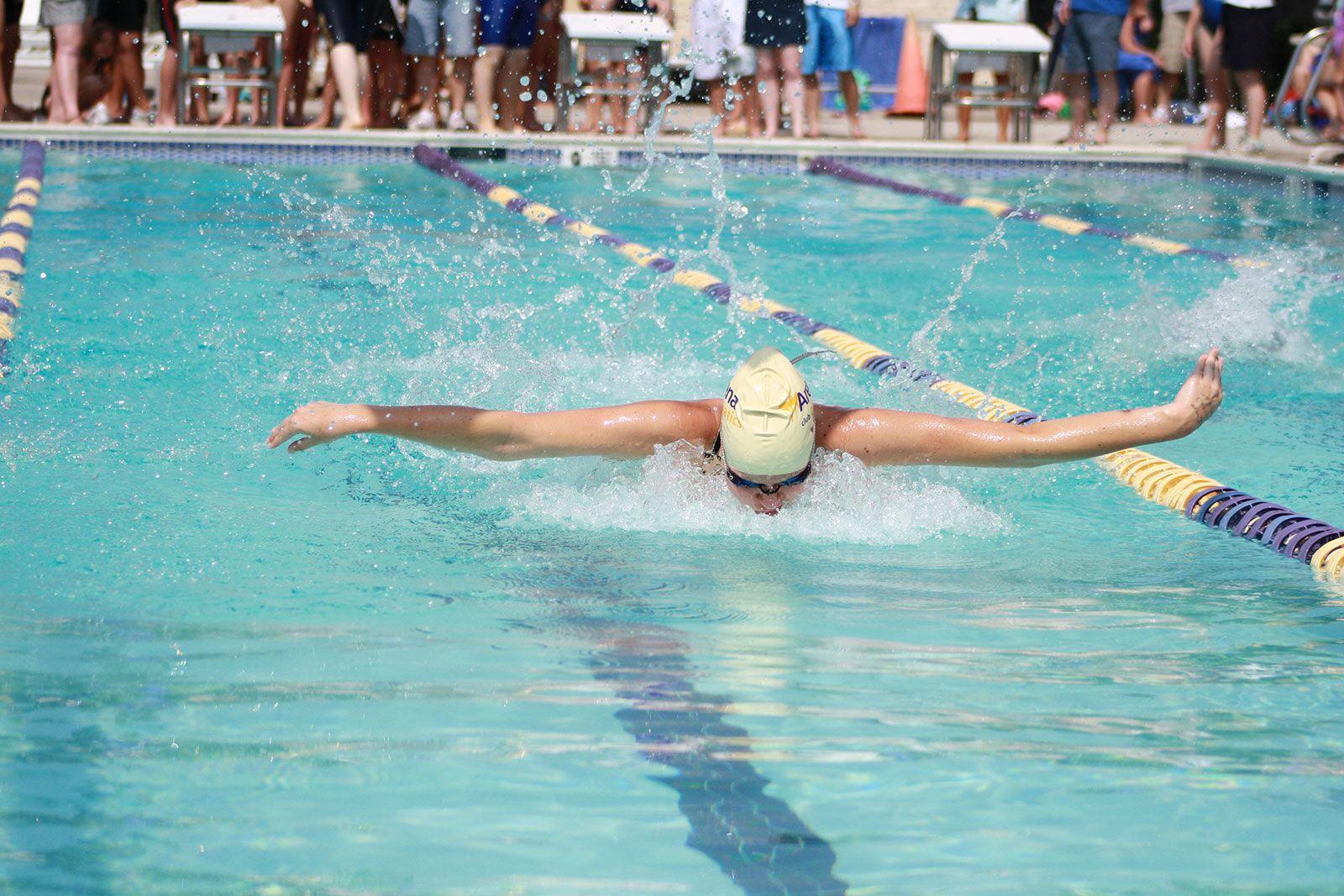 Swimmer on swim team